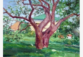 Этюд к картине «Усадьба весной»