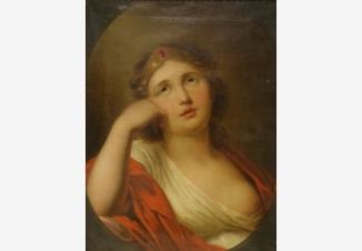 Девушка с диадемой на голове