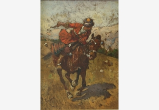 Всадник на рыжем коне
