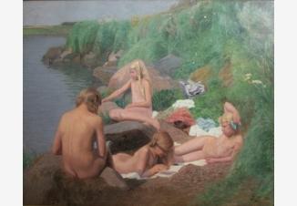 Девочки у реки