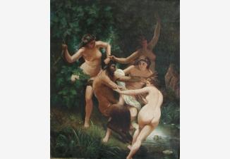 Сатир и нимфы
