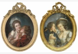 Пара картин «Влюбленные»