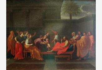 Младенец Моисей попирает корону фараона