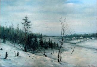 Зимний пейзаж. Пасмурный день