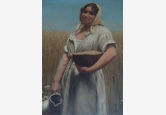 Девушка с краюхой хлеба и кувшином