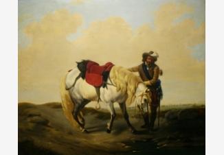 Всадник с лошадью