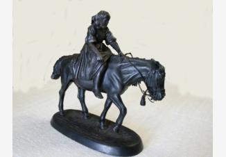 Крестьянка на лошади