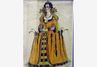 Эскиз женского костюма
