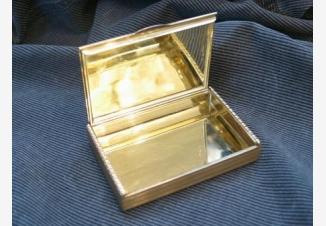 Портсигар золотой с алмазами