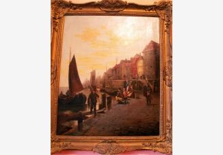 Рыбаки и лодки