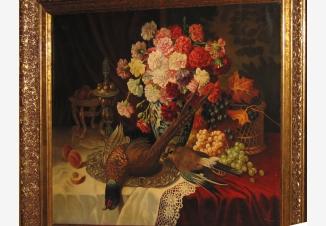 Натюрморт с фруктами и битой дичью