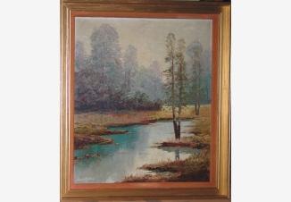 Пейзаж с речкой