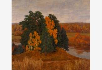 Осень на берегу Клязьмы
