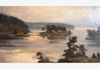 Острова на озере. Карелия