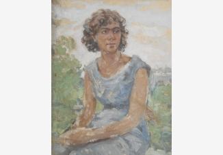 Портрет девушки на пленэре