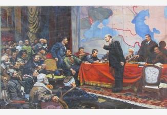 В. И. Ленин у карты ГОЭЛРО