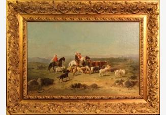 Пейзаж с арабскими всадниками