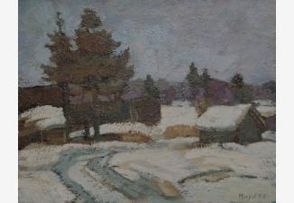 Этюд Зима