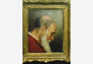 Голова старика. Эскиз росписи Храма Христа Спасителя