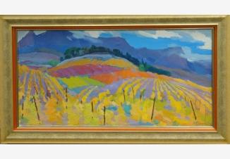 Осенний пейзаж с виноградником
