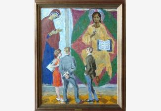 В Рублевском зале Третьяковской галереи