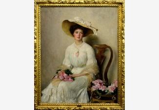 Молодая дама с розами