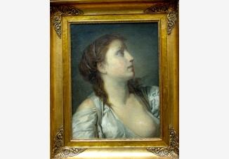 Портрет девушки с обнаженной грудью