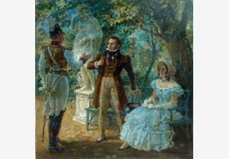 Встреча Пушкина с Дантесом в Летнем Саду