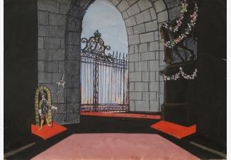 Эскиз театральной декорации