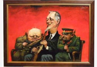 Ялтинская тройка (Сталин, Рузвельт, Черчиль)