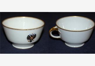 Чайная пара. Коронационный сервиз Николая II