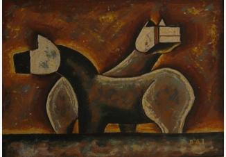 Деревянные тибетские лошадки