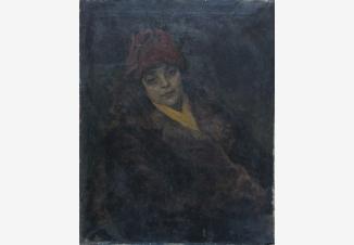 Портрет Фриды в красной шляпке