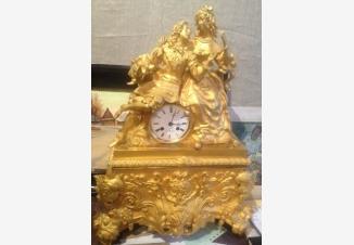 Часы каминные Дама и кавалер