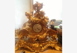 Часы каминные Амуры