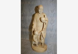 Окимоно Монах с мальчиком