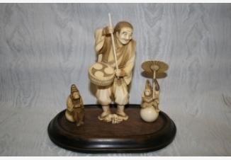 Окимоно Дрессировщик обезьян