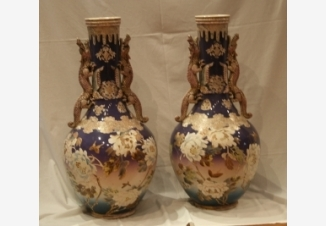 Парные вазы «Пионы»