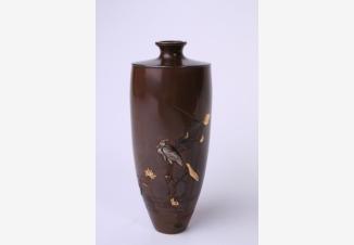 Вазочка с изображением цапли и лотоса