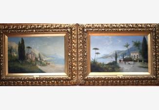 Вилла в окрестностях Монте-Карло (пара картин)