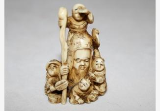 Нэцкэ Фукурокудзю — Божество счастья и карьеры