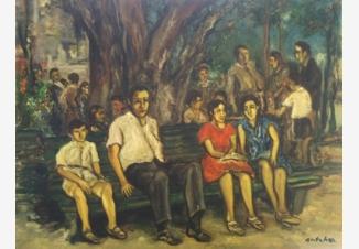 Оживленная сцена в Перецине
