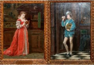 Парные картины «Девушка с книгой», «Паж с письмом»