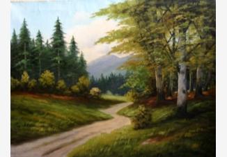 Извилистая дорога в лесу