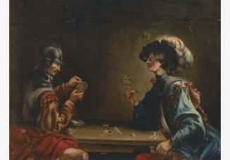 Два гвардейца, играющие в карты
