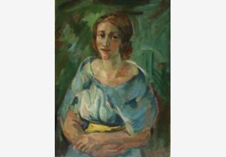 Портрет девушки в зеленом