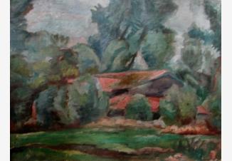 Пейзаж с красными крышами