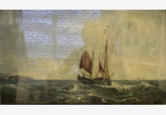Парусник в океане