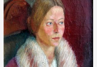 Портрет женщины с белым воротником