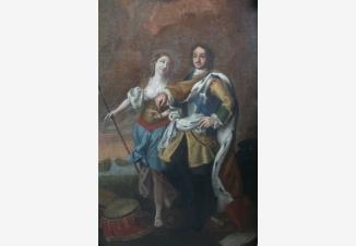 Петр I, сопровождаемый Минервой